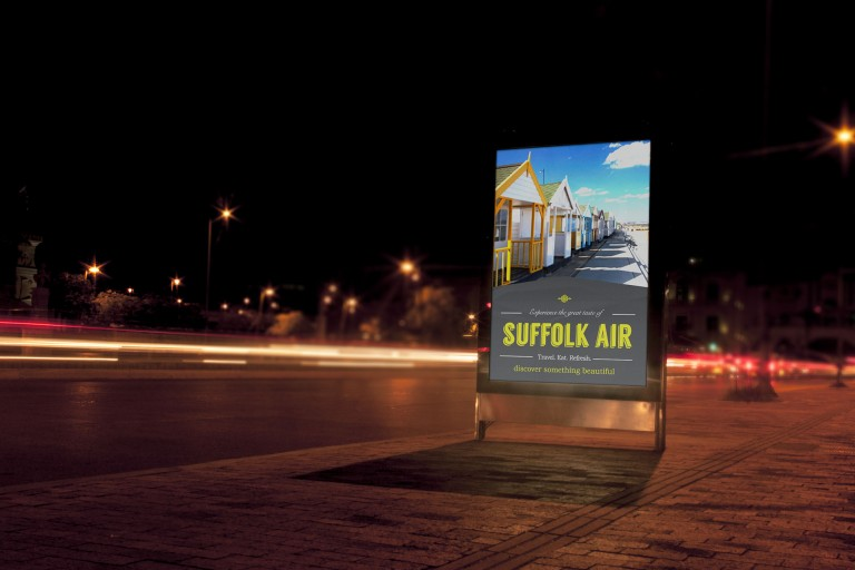Suffolk Air Illuminated Outside Poster