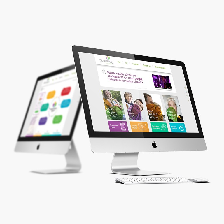 Bloomsbury Wealth Website iMac